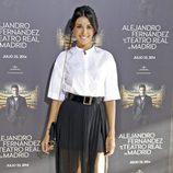 Noelia López en el concierto de Alejandro Fernández en Madrid
