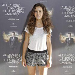 Sandra Blázquez en el concierto de Alejandro Fernández en Madrid