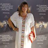 Marta Valverde en el concierto de Alejandro Fernández en Madrid