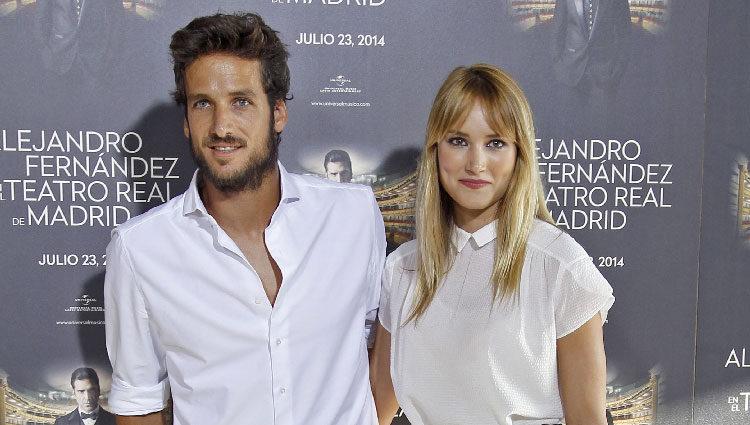 Alba Carrillo y Feliciano López en el concierto de Alejandro Fernández en Madrid