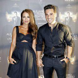 Paula Echevarría y David Bustamante en el concierto de Alejandro Fernández en Madrid