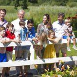 La Familia Real Danesa en su posado de verano 2014