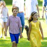 Christian e Isabel de Dinamarca en su posado de verano 2014