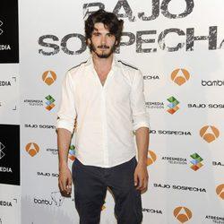 Yon González en la presentación del rodaje de 'Bajo sospecha'