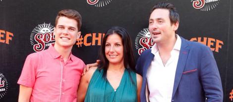 Los finalistas de 'Masterchef 2', Mateo, Vicky y Cristóbal, en el estreno de '#Chef' en Madrid