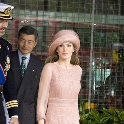 La Princesa Letizia vestida de Felipe Varela en la boda de los Duques de Cambridge