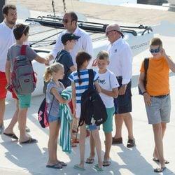 Los sobrinos del Rey Felipe VI comienzan un curso de vela en Mallorca