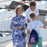 Primera imagen de la Reina Sofía en sus vacaciones en Mallorca 2014