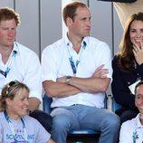 El Príncipe Harry y los Duques de Cambridge en los Juegos de la Commonwealth 2014