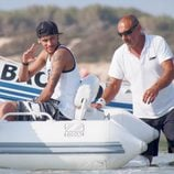 Neymar relajado durante sus vacaciones a Ibiza