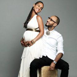 Alicia Keys y Swizz Beatz en su cuarto aniversario de boda
