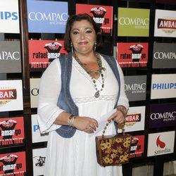 Charo Reina en la presentación del espectáculo 'Poeta en Nueva York' en Madrid
