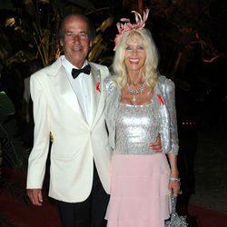 Gunilla Von Bismarck y Luis Ortiz en la Gala de la Concordia 2014 en Marbella