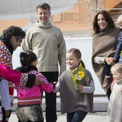 La Familia Real danesa de visita oficial en Groenlandia