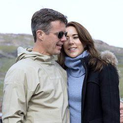 El Príncipe Federico y la Princesa Mary durante su visita oficial a Groenlandia