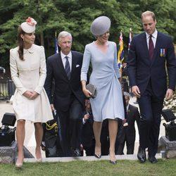 Los Reyes de Bélgica y los Duques de Cambridge en un acto en recuerdo por el centenario del estallido de la I Guerra Mundial