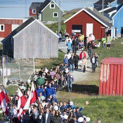 La Familia Real danesa en Qeqertarsuatsiaat