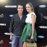 Víctor Puerto y Noelia Margotón en el estreno de 'Los Mercenarios 3' en Marbella