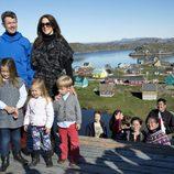 La Familia Real danesa en la localidad de Qeqertarsuatsiaat