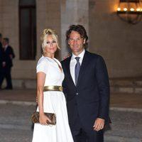 Carolina Cerezuela y Carlos Moyá en la recepción oficial de los Reyes de España en Mallorca