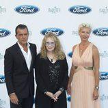 Antonio Banderas, Mia Farrow y Anne Igartiburu en la Starlite Gala 2014
