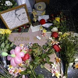 Homenaje a Robin Williams en su estrella del Paseo de la Fama de Hollywood