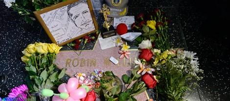 Homenaje a Robin Williams en su estrella del Paseo de la Fama de Hollywood