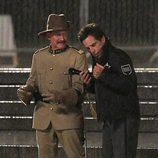 Ben Stiller y Robin Williams en el rodaje de 'Noche en el Museo 3'