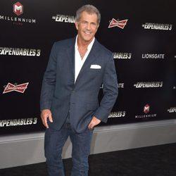 Mel Gibson en el estreno de 'Los mercenarios 3' en Los Angeles