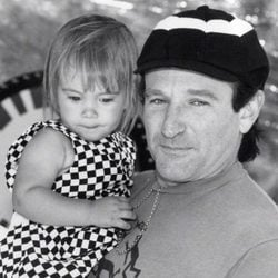 Robin Williams y su hija Zelda