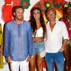 Juan Peña, Israel Bayón y Cristina Sainz en la fiesta Flower Power 2014 en Ibiza