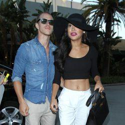 Naya Rivera y Ryan Dorsey en un concierto de Justin Timberlake en Los Angeles