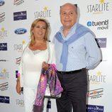 Carmen Borrego y José Carlos Bernal en el concierto de Julio Iglesias en Marbella