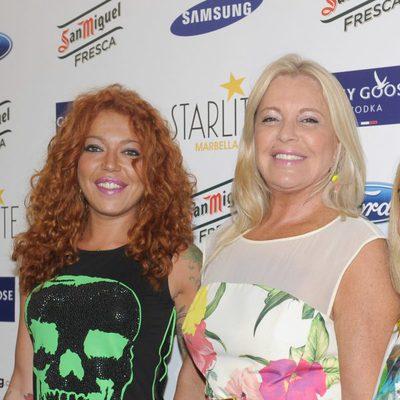 Bárbara Rey y Sofía Cristo en el concierto de Rosario Flores en el Starlite Festival 2014