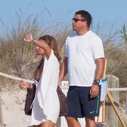 Ronaldo y Paula Morais en las playas de Formentera