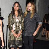 Zoe Saldana y Marco Perego en una fiesta previa a la entrega de los Premios Emmy 2014