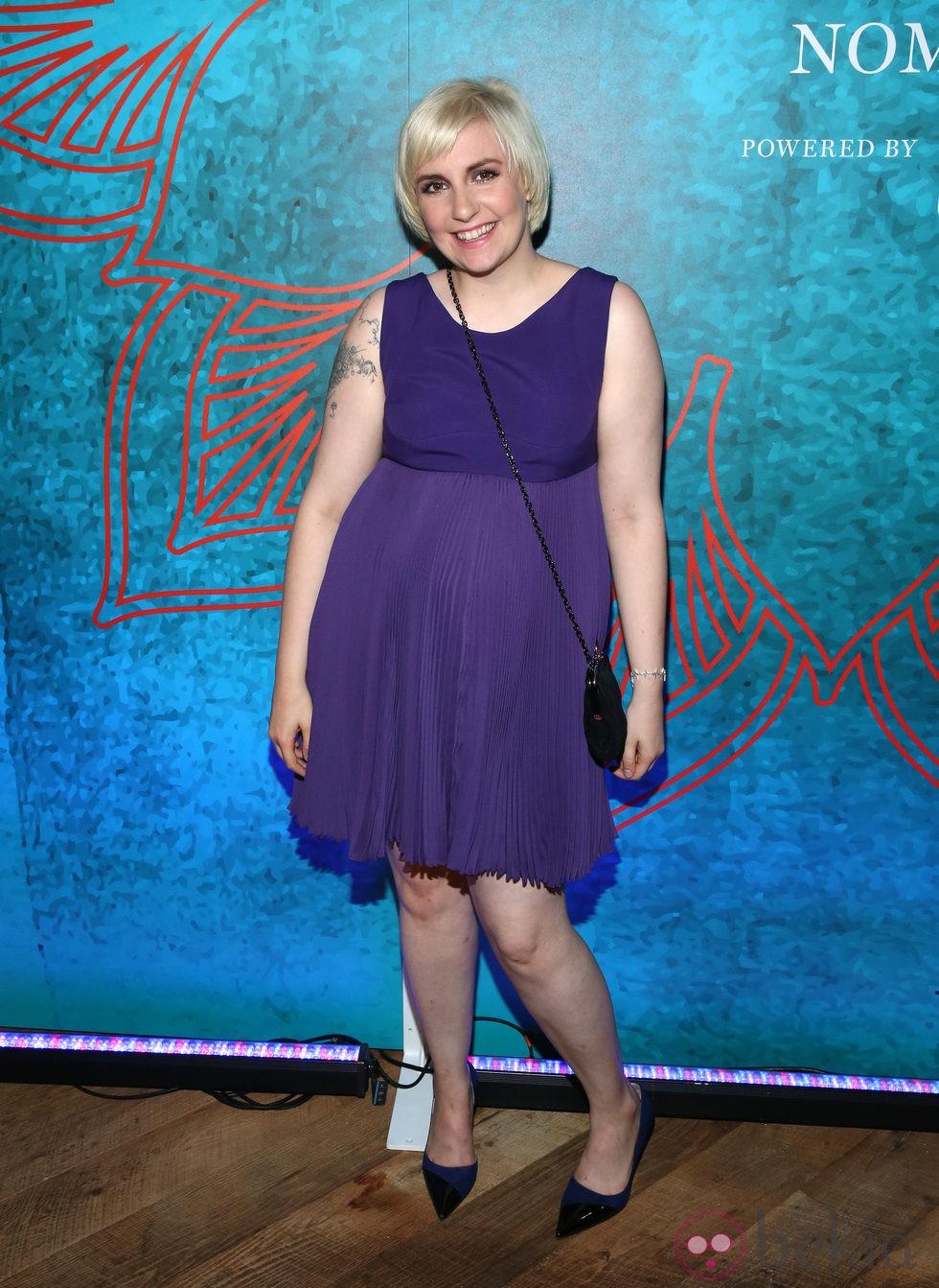 Lena Dunham en una fiesta previa a la entrega de los Premios Emmy 2014