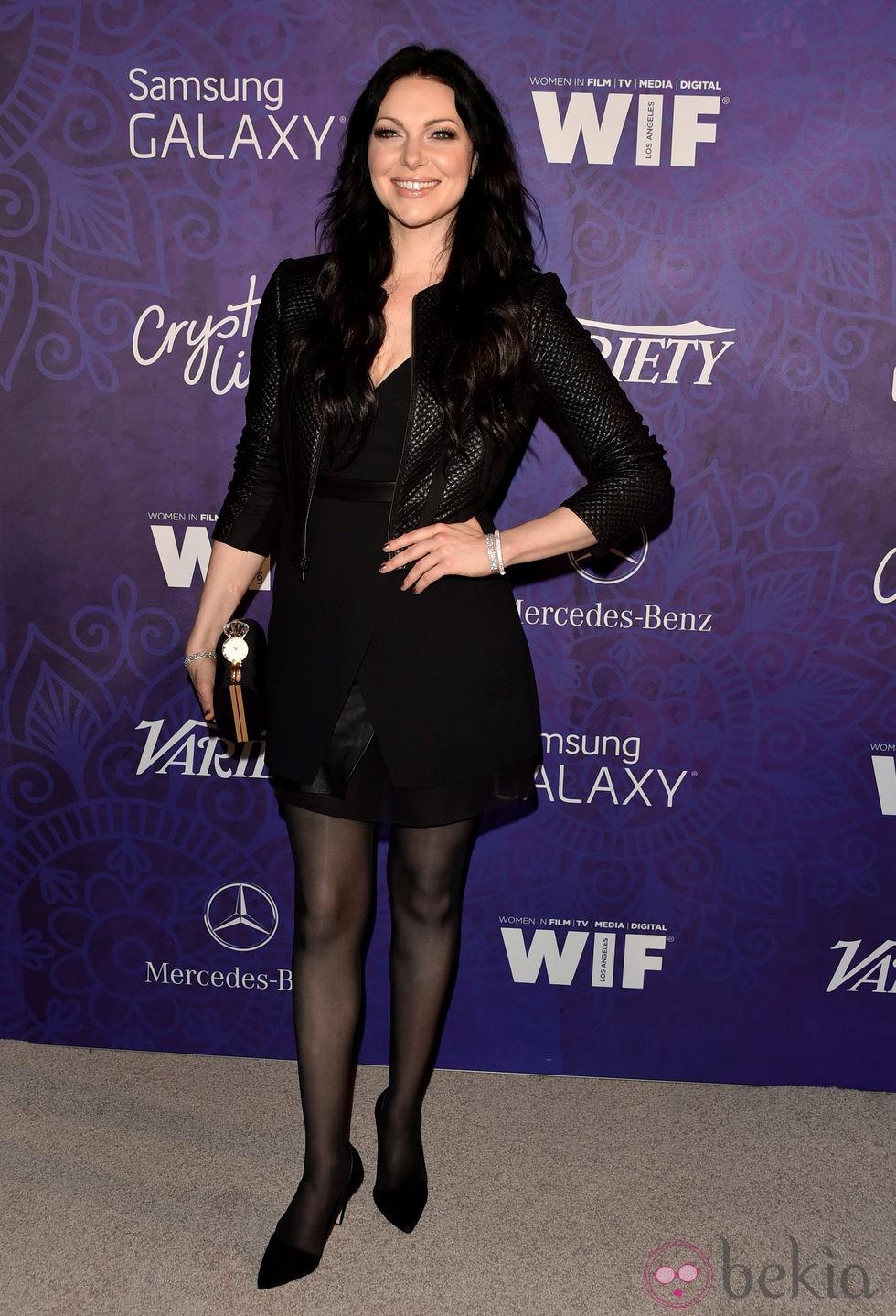 Laura Prepon en una fiesta previa a la entrega de los Premios Emmy 2014