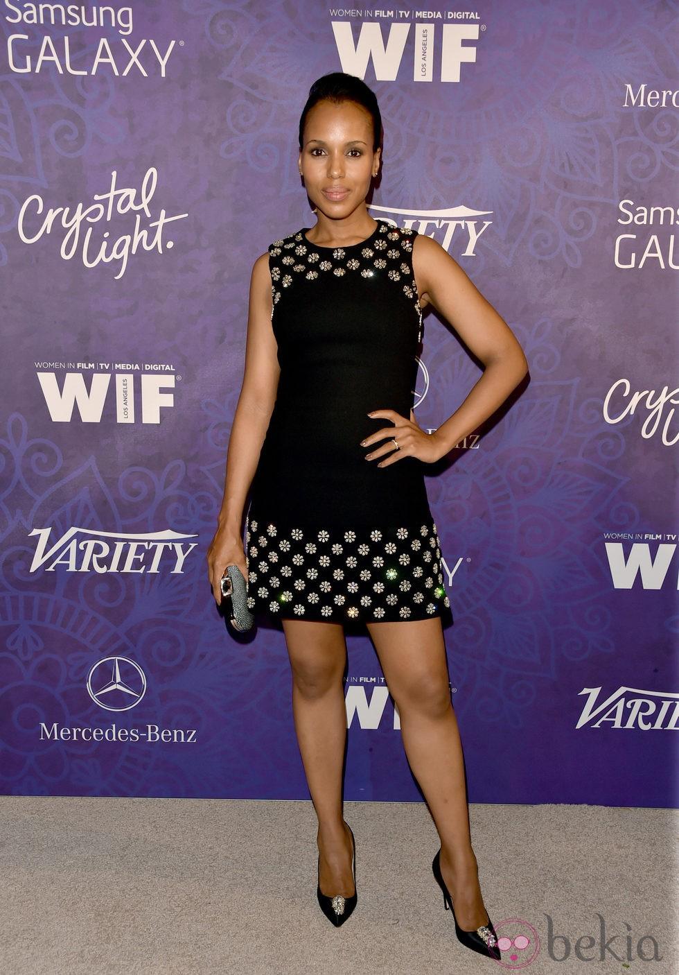 Kerry Washington en una fiesta previa a la entrega de los Premios Emmy 2014