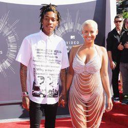 Wiz Khalifa y Amber Rose en la alfombra roja de los MTV Video Music Awards 2014