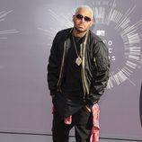 Chris Brown en la alfombra roja de los MTV Video Music Awards 2014