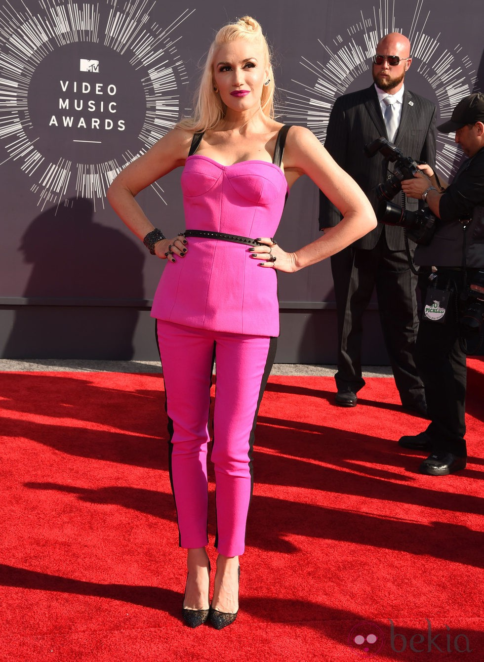 Gwen Stefani en la alfombra roja de los MTV Video Music Awards 2014