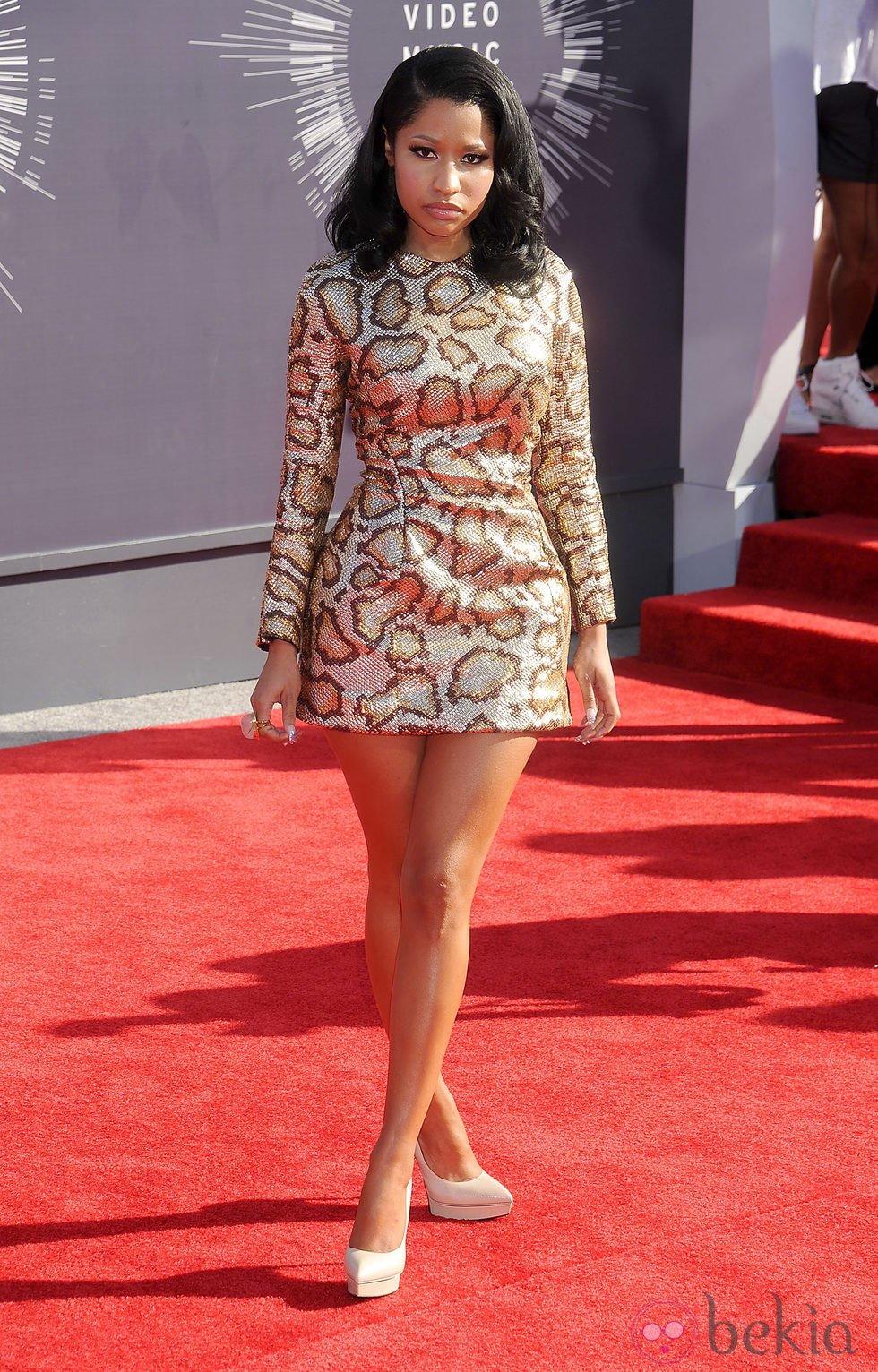 Nicki Minaj en la alfombra roja de los MTV Video Music Awards 2014