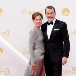 Bryan Cranston y su esposa en los Emmy 2014