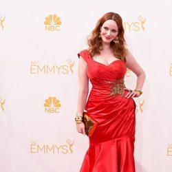 Christina Hendricks en la red carpet de los Emmys 2014