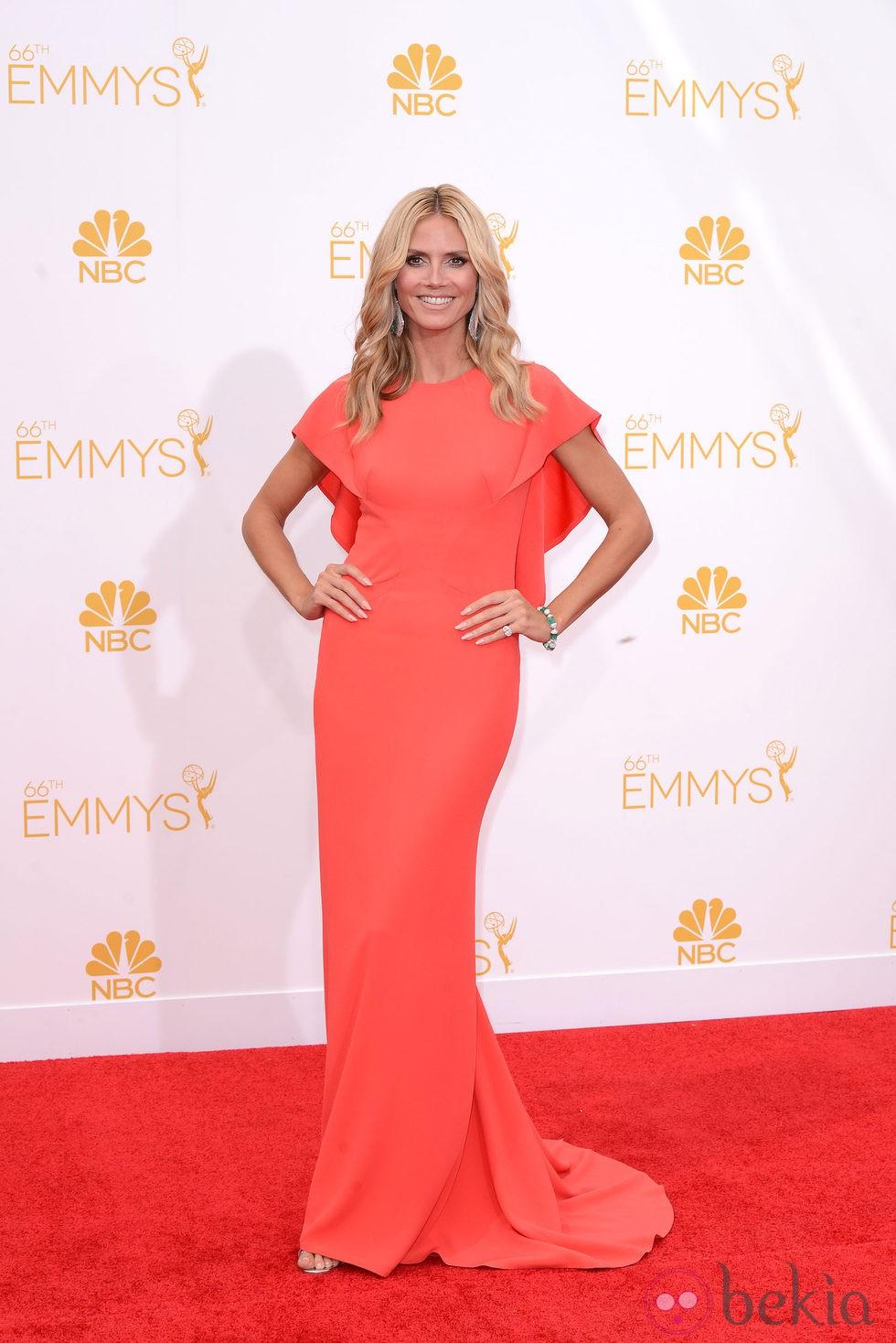 Heidi Klum en la alfombra roja de los Premios Emmy 2014