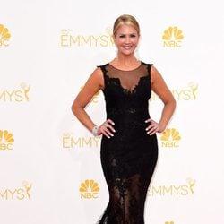Nancy O'Dell en la alfombra roja de los Premios Emmy 2014
