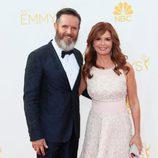 Mark Burnett y Roma Downey en la alfombra roja de los Premios Emmy 2014