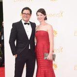 Rich Sommer y Virgina Donohoe en la alfombra roja de los Premios Emmy 2014