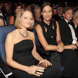Jodie Foster y Alexandra Hedison en la alfombra roja de los Premios Emmy 2014
